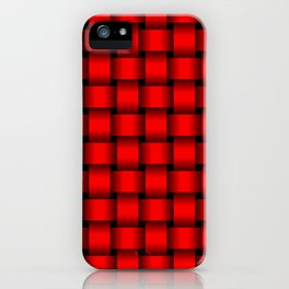 Red Weave iPhone Case