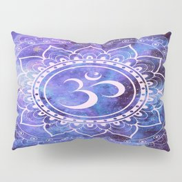 Om Mandala Purple Lavender Blue Galaxy Pillow Sham