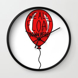 IT We All Float Down Here Red Balloon Wall Clock
