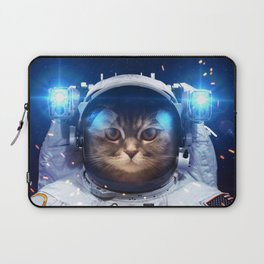 Beautiful cat in outer space Laptop Sleeve