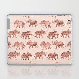 Cute Girly Pink Rose Gold Polka Dot Elephants Laptop & iPad Skin