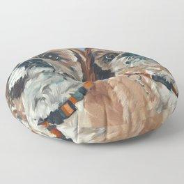 Shih Tzu Buddies Dog Portrait Floor Pillow
