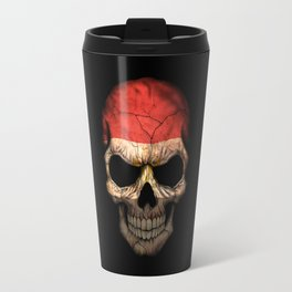 Dark Skull with Flag of Egypt Travel Mug