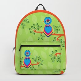 Tropical birds on trees Backpack
