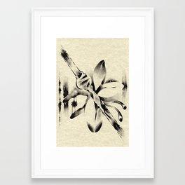 Beam Stalk Framed Art Print