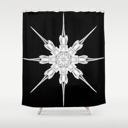 Ninja Star 3 Shower Curtain