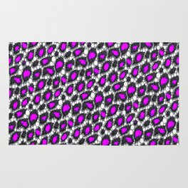 Florescent Purple Cheetah Pattern  Rug