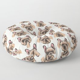 No Evil  Frenchie Floor Pillow