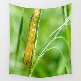 Magic Grass - Caterpillar - Macro Wall Tapestry