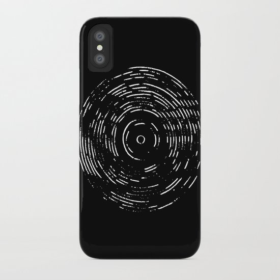 Record White on Black iPhone Case