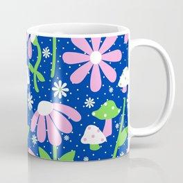 60's Mushrooms + Daisies Coffee Mug
