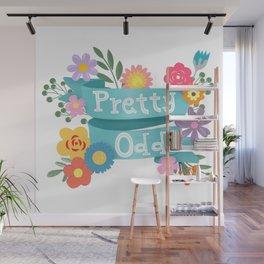 Pretty Odd Floral Banner Wall Mural