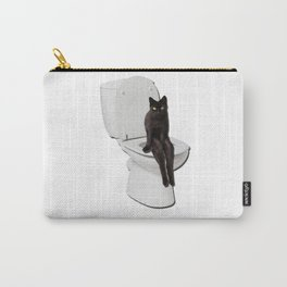 Toilet Cat Carry-All Pouch