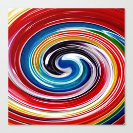 Lollipop Swirls - Rainbow Canvas Print