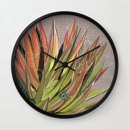 Yucca filifera with beetle Wall Clock