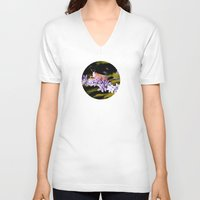 insect V-neck T-shirts featuring Grasshopper Insect by Loaded Light Photography