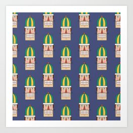 Nutcracker Army 02 (Patterns Please) Art Print