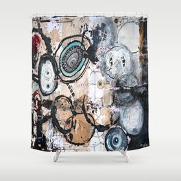 Upside Down and Inside Out Shower Curtain