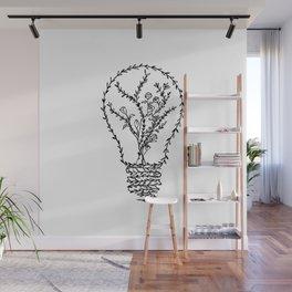 Floral Light Bulb Wall Mural