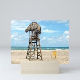 A Quiet Beach Moment Mini Art Print