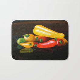 Peppers From a Friend, the painting Bath Mat