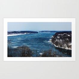 Endless Blue Art Print