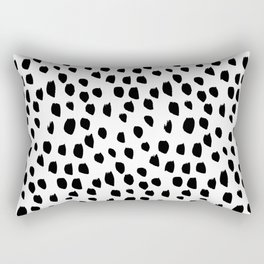 Hand drawn drops and dots on white-Mix & Match with Simplicty of life Rectangular Pillow