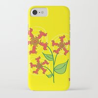 daschund iPhone & iPod Cases featuring Doxie Flower by WhyitsmeDesign