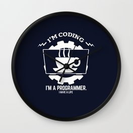 Programmer - I am coding Wall Clock
