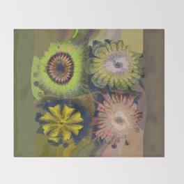 Methylator Structure Flowers  ID:16165-011604-36970 Throw Blanket