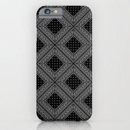 Black Bandana Diamond Patches iPhone Case