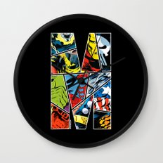 Classic comic heroes Wall Clock