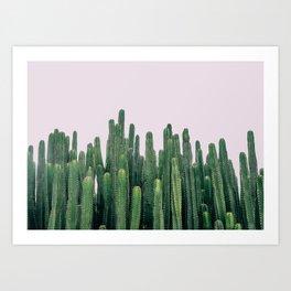 Cactus, Row of Cactus, Millennial Pink, Boho Wall Art Art Print