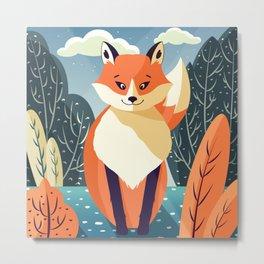 Wildlife 006a Red Fox Metal Print