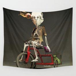 Skull bird Jeremy Wall Tapestry