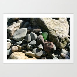 sea glass (green) Art Print