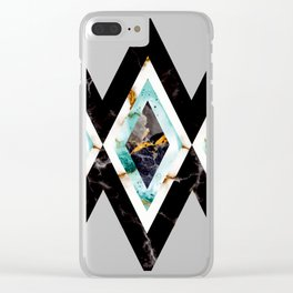 Art deco marble pattern 20s #homedecor Clear iPhone Case