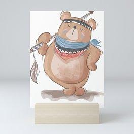Artist bear Mini Art Print