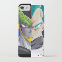 vegeta iPhone & iPod Cases featuring Cell vs Vegeta  by ADCArtAttack