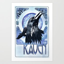 The Raven and The Moon Art Print