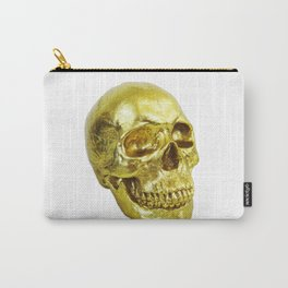 Goldish Skull Carry-All Pouch