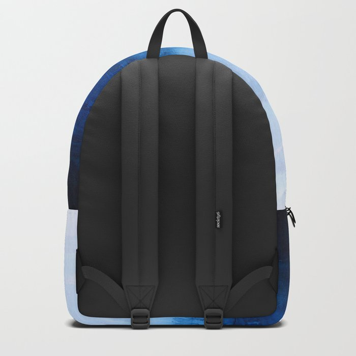 All good things are wild and free - Ocean Ombre Painting Backpack