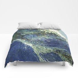 Ebb and Flow Splashing Wave Juul Art Comforters