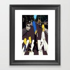 bea(tles)mpson Framed Art Print