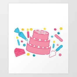Funny Cake Decorating Is My Cardio graphic Art Print