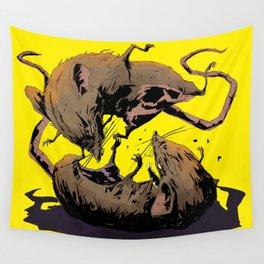 rat fight Wall Tapestry