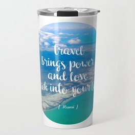 power + love Travel Mug