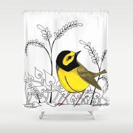 Hooded Warbler Shower Curtain