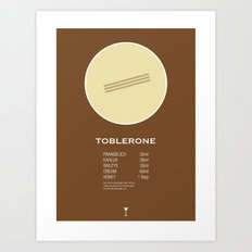 Toblerone Cocktail Recipe Poster (Metric) Art Print
