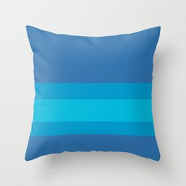 Into the Blue - Minimalist Banded Color Block Pattern Throw Pillow